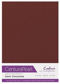 Dark Chocolat - Glanskarton A4 310 grams - 10 vel - Centura Pearl