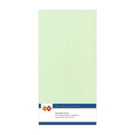 19 Licht Groen - Linnen Kaarten 4 kant 13.5x27cm - 10 stuks - 200 grams - Card Deco