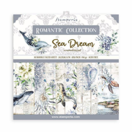 Paperpad 20.3 x 20.3cm -  Romantic Sea Dream - Stamperia