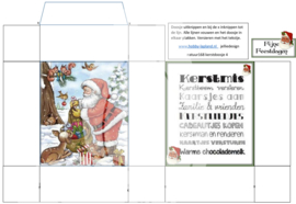 JDN168 Vintage vel A4 Natuur Kerstdoosje - Jellie Design