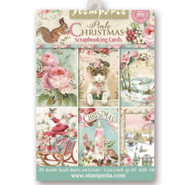 Scrapbooking Cards - Pink Christmas - Stamperia