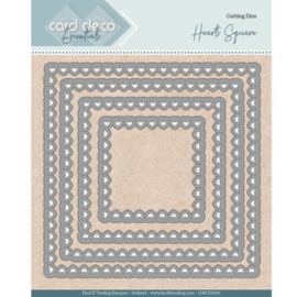 CDECD0100 Nesting Dies - Bullet Hearts Square - Card Deco