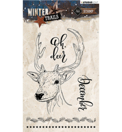 STAMPWT302 Clear stempel - Winter Trails - Studio Light