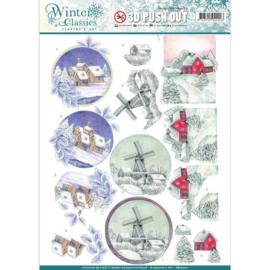 SB10201 Uitdrukvel A4 - Winter Classic - Jenine's Art