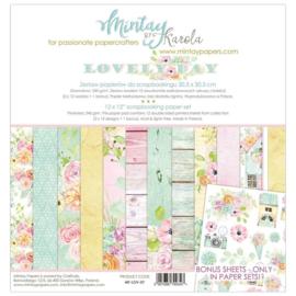 Paperpad 30.5 x 30.5cm - Lovely Day - Mintay  - PAKKETPOST!