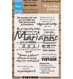 CS1006 Clearstempel Verjaardags Gedichtjes NL - Marianne Design