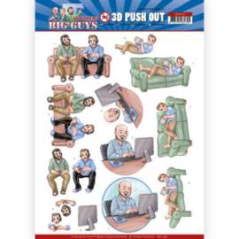SB10447 Uitdruk vel 3D A4 - Big Guys Workers - Yvonne Creations