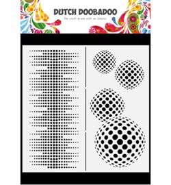 470.784.009 - Mask Art Slimline Circles - Dutch Doobadoo