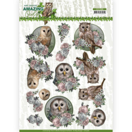 CD11566 3D Knipvel A4 - Amazing Owls - Amy Design