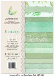 A4 Basic Paperpad - Leaves 01 - Lemon Craft