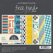 FBN003 Paperpad 15,2 x 15,2 cm - Free Bird - Authentique