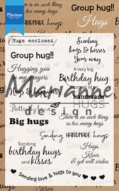 CS1011 Clearstamp Hugs UK - Marianne Design