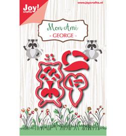 6002-0967 Snij- en embosmal Wasbeer - Mon Ami - Joy Crafts