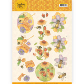 CD11340 Knipvel A4  - Buzzing Bees - Jeanine's Art