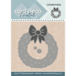 CDEMIN10026 Wreath  - Card Deco