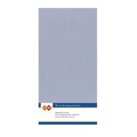 52 Oud Blauw - Linnen Kaarten 4 kant 13.5x27cm - 10 stuks - 200 grams - Card Deco