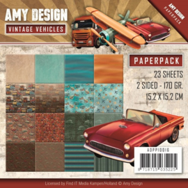 ADPP10016 Paperpad - Vintage Vehicle - Amy Design