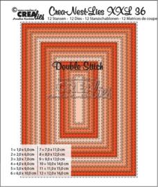 XXL no. 36 Snijmal Rechthoek double Stitch - Crealies