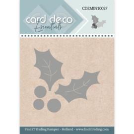 CDEMIN10027 Holly  - Card Deco