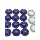 8mm Parelflower - 10 stuks - Donker Blauw