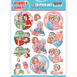 SB10345 Stansvel A4 - Bubbly Girls - Yvonne Design