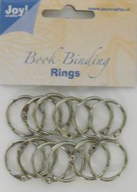 6200-0121 Bindringen zilver 25mm - 12 stuks - Joy Crafts