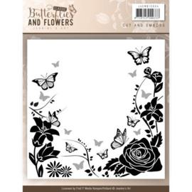 JAEMB10004 Embosmal - Classic Butterflies and Flowers - Jenine's Art