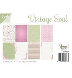 6011-0568 Papierset A4 - Vintage Soul - Joy Crafts