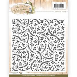 PMEMB10011 Embossing folder - The Nature Christmas - Marieke Design