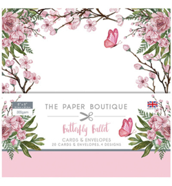 PB1172 Paperpad 20.5 x 20.5 cm Butterfly Ballet - The Paper Boutique