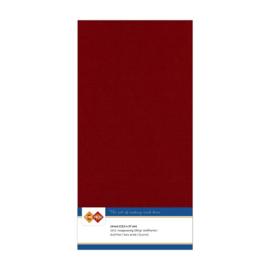 14 Bordeaux - Linnen Kaarten 4 kant 13.5x27cm - 10 stuks - 200 grams - Card Deco