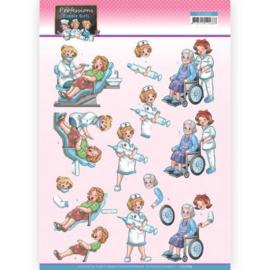 CD11664 3D Knipvel A4 - Bubbly Girls - Yvonne Creations