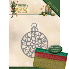 ADD10183 Snij- en embosmal - Christmas Gold - Amy Design
