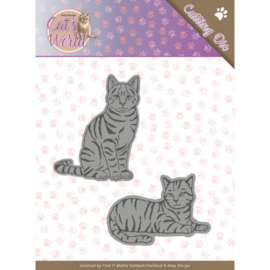 ADD10187 Snij- en embosmal  - Cats World- Amy Design