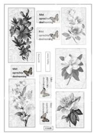 JDN028 Vintage vel A4 Natuur - Jellie Design
