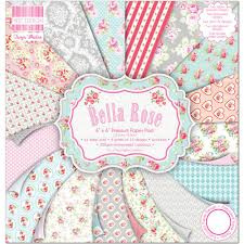 Paperpad 20 x 20cm - Bella Rose - First Edition