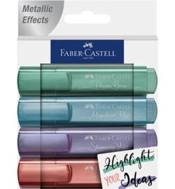 154624 Tekstmarkers Metallic  - Faber Castell