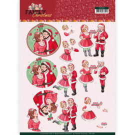 CD11387  3D vel A4 - Family Christmas - Yvonne Creations