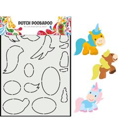 470.713.865 - Card Art Built up Paard - Dutch Doobadoo