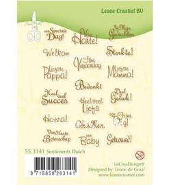 55.3141 Clearstempel NL tekst - Leane