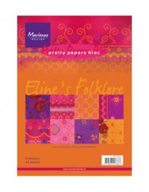 PB7033 Paperpad A5 - Eline's Folklore - Marianne Design
