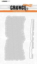 Stencilsl174 Snij- en embosmal - Grunge - Studio Light