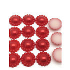 8mm Parelflower - 10 stuks - Rood