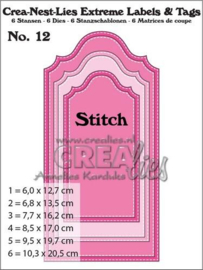 Extreme Labels and Tags no. 12 Snijmal with Stitch - Crealies