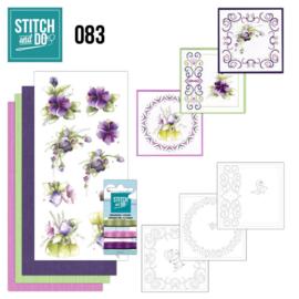 Stitch en Do nr. 83 - Paarse bloemen