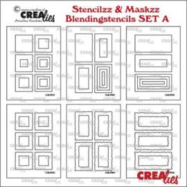 Stencilzz/Maskzz 6x Rechthoek glad en ruwe randen CLSTMBLSETA 10,5 x 15 cm - Crealies
