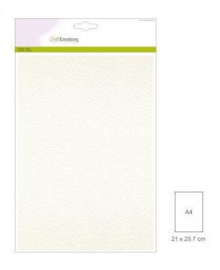 Fluweelkarton A4 - Wit - 250 grams - 10 vel - Craft Emotions