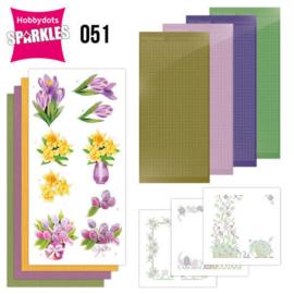 Sparkles set 051 - Compleet set voor 3 kaarten