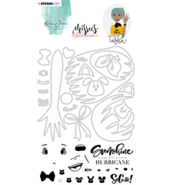 BASICSDCKJ04 Stamp and Die - Missees - Karin Joan - Studio Light