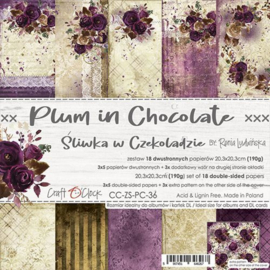 Plum in Chocolate - Paperpad 20.5 x 20.5 cm - Craft O' Clock